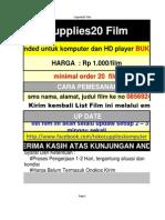 List Film Cupplies20 ( Update 19 Maret 2013)