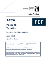 ACCA F6 Revision Mock June 2013 QUESTIONS Version 2 FINAL at 25 March 2013