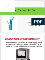 Ppt on Analog Power Meter