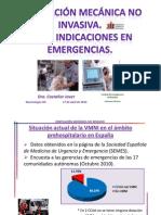 VMNI . Indicaciones Urgencias y Emergencias