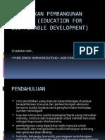 Pendidikan Pembangunan Lestari (Education for Sustainable Development 2 PPT