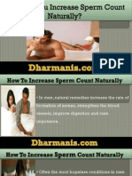 How Can You Increase Sperm Count Naturally?