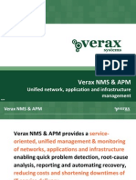 Verax NMS & APM - unified network, application and infrastructure management (presentation)