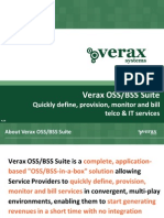 Verax OSS/BSS Suite - Quickly define, provision, monitor and bill telco & IT services (presentation)