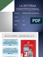 La Reforma Constitucional