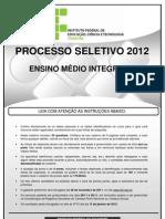 Caderno Provas EMI 20121 Ifto