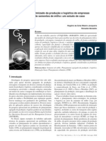 IX - Planejamento otimizado da produção e logística de empresas produtoras de sementes de milho um estudo de caso