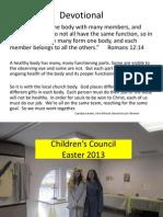 Children's Council Easter 2013.