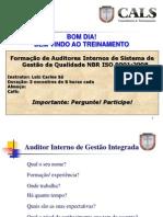 FORMAÇÃO DE AUDITOR SGI  9001 - 03-10-11