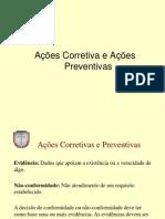 Ações Corretivas e Ações Preventivas - 04-09-12
