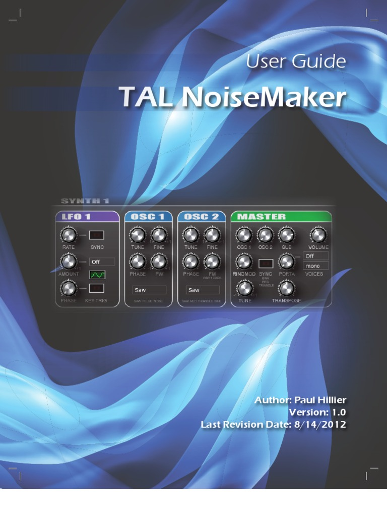 TAL Noisemaker User Guide 1 0   Synthesizer   Sound Technology