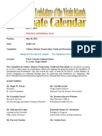 LegislativeCalendar Week Beginning 5.28.13 (Through 5.31.13)