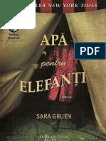 Sara Gruen Apa Pentru Elefanti