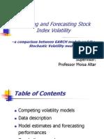 Stock Index Volatility