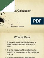 Beta calculation