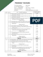 Program Tahunan & Alokasi Waktu 2012-2013