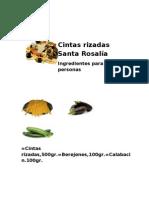 Cintas rizadas Santa Rosalía