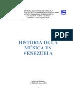Libro Arrtesanal Historia de la Música en Venezuela