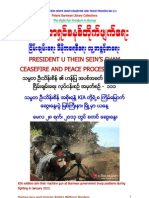 President U Thein Sein's Sham Ceasefire and Peace Process No.111