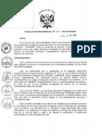 RESOLUCIÓN PRESIDENCIAL N° 167-2010-SERNANP0001