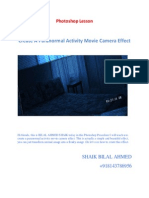 Create a Paranormal Activity Movie Camera Effect by Shaik Bilal Ahmed