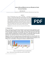 Economic Analysis of Solar Photovoltaic Based on Life Cycle Costing