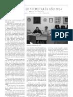 Memoria de Secretaría Año 2004, por Pedro Villa Maldonado