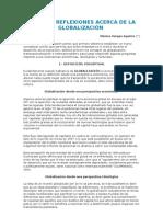 ALGUNAS REFLEXIONES ACERCA DE LA GLOBALIZACIÓN