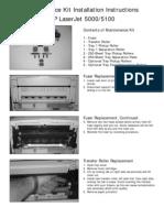 HP LJ 5000 Maintenance Kit Instructions