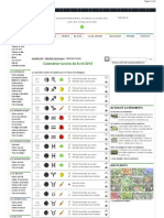 calendrier biodynamique · avril 2013