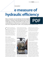 A True Measure of Hydraulic Efficiency