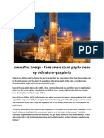 AmeraTex Energy Consumers Could Pay to Clean Up Old Natural-gas Plants