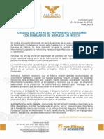 CORDIAL ENCUENTRO DE MOVIMIENTO CIUDADANOCON EMBAJADOR DE NORUEGA EN MÉXICO