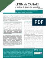 Boletin de CANARI No. 3-La creacion de instituciones para un desarrollo sostenible