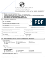 Credentialing Application