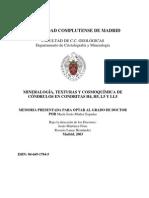 Minerologia, Texturas y Cosmoquimica de Condrulos en Condritas H4, H5,L5 y LL5