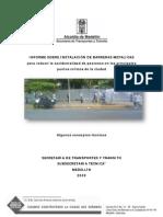 Analisis Instalacion Barreras Peatonales