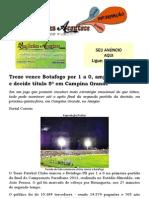 Treze vence Botafogo por 1 a 0, amplia vantagem e decide título 5ª em Campina Grande