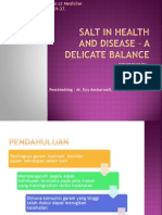 SALT IN HEALTH AND DISEASE – A DELICATE