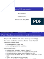 Advanced Microeconomic