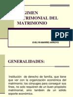 Regimen Patrimonial Del Matrimonio 2011