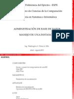 Instancias Adm Base Datos