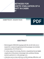 em analysis of aircraft in-cabin area