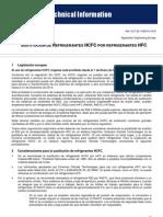 SUSTITUCIÓN DE REFRIGERANTES
