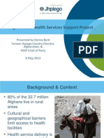 Afghanistan Health Services Support Project
