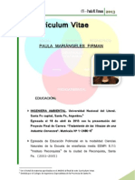 CV Ingeniera Ambiental Paula Firman