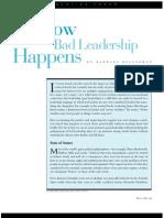 Kellerman How Bad Leadership Happens
