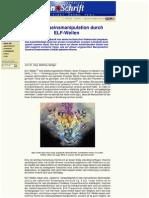 Strahlenfolter - Bewusstseinsmanipulation Durch ELF-Wellen Miit Funkstrahlen - Zeitenschrift.com