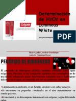 Determinación de H2O2 en Luminous White