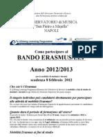 Bando Erasmus Napoli 20122013